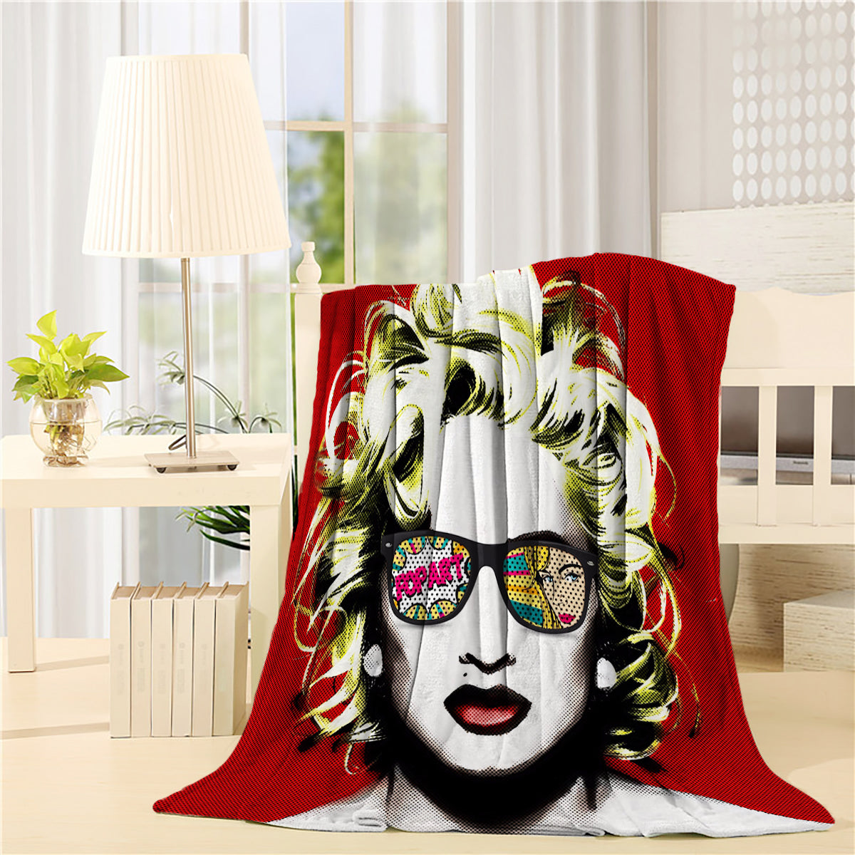 Popart Glass Marilyn Monroe Throw Blankets