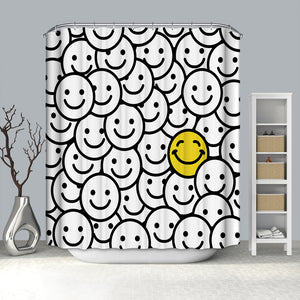 Positive Smile Faces Smiling Emoticons Emoji Shower Curtain