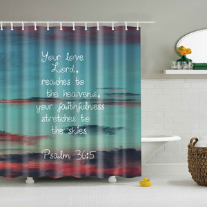 Psalm 365 Scripture Bible Verse Shower Curtain