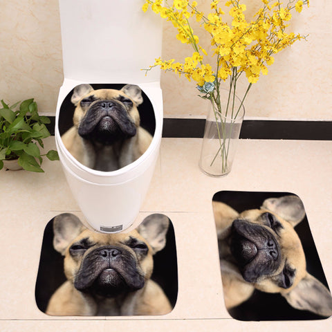 Pug Staring at You Toilet Seat Cover
