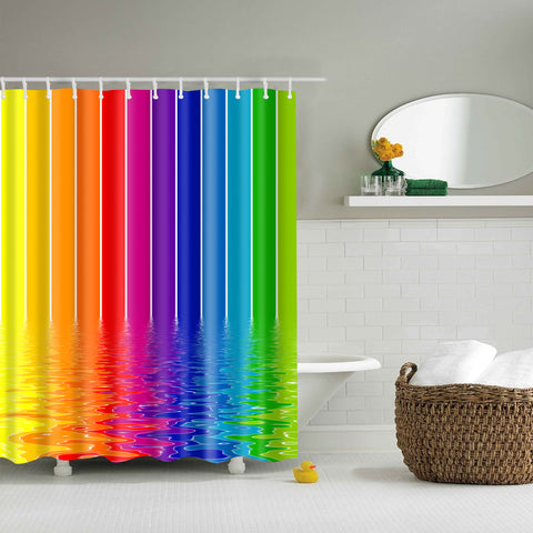Arcobaleno Stripes Paint Shower Curtain | GoJeek