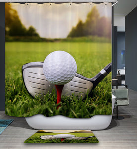 Real Sports Picture Golf Shower Curtain