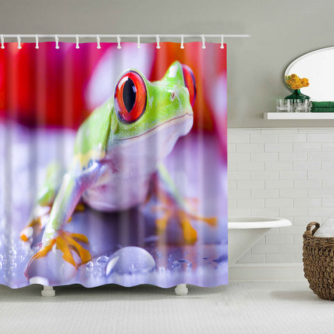 Cortina de ducha Real Tropical Jungle Red Eyed Tree Frog