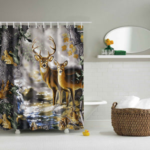 Realtree White Tailed Deer Shower Curtain | GoJeek