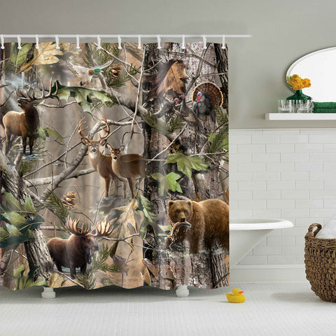 Cortina di doccia Realtree Wildlife Animal Camo | GoJeek