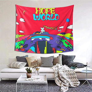 Red Sky Peaceful Surreal Art Hope World Tapestry