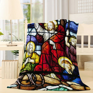 Religious Christian Sainted Jesus Throw Blanket