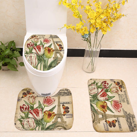 Retro Antique Paris Effie Tower Tulip Toilet Seat Cover