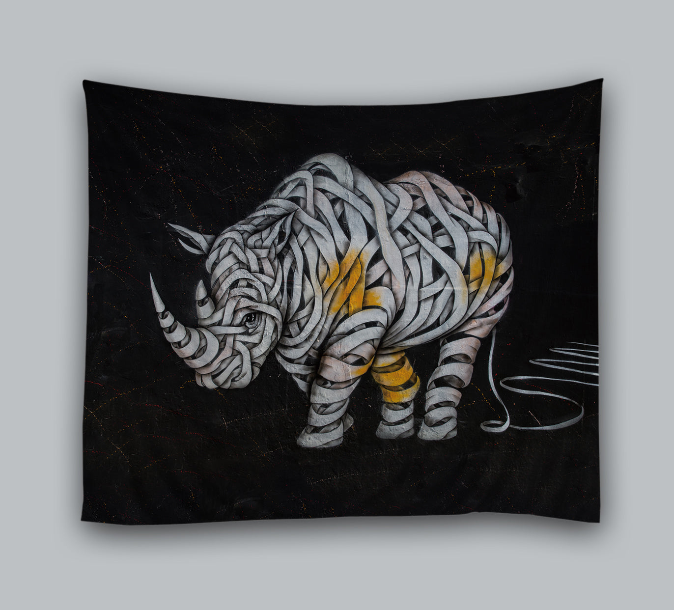 Rhinoceros with Bandages Art Design Tapestry