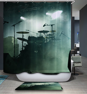 Rock and Roll Realistic Drum Shower Curtain
