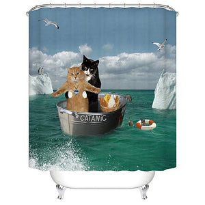 Romantic Cat Catanic Shower Curtain