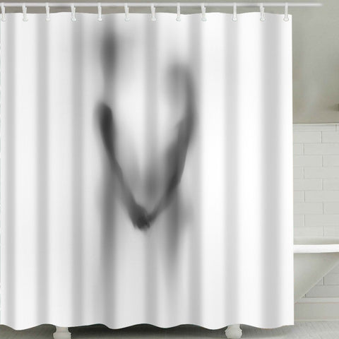 Romantic Lovers Shadow Shower Curtain | GoJeek