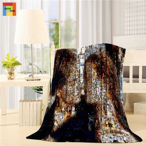 Romantic Movie Titanic Mosaic Post Throw Blanket