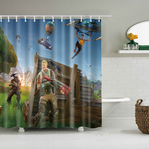 Royale PC Game Fortnite Battle Shower Curtain