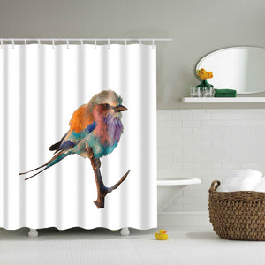Running Bird Themed Shower Curtain