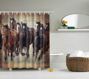 Running Horse Drawing Shower Curtain