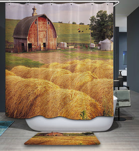 Rural Country Life Animal Farm Shower Curtain