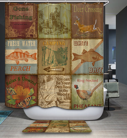 Rustic Cabin Shower Curtain