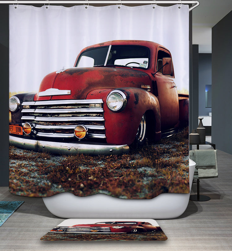 Rustic Old Chevy Truck Shower Curtain