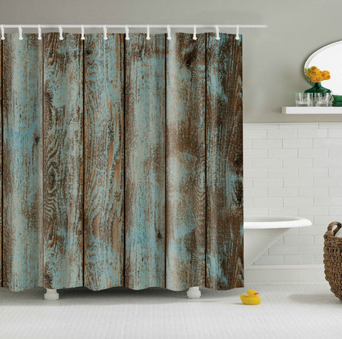 Rustic Wood Look Shower Curtain | GoJeek