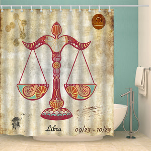 Rustic Zodiac Art Libra Shower Curtain