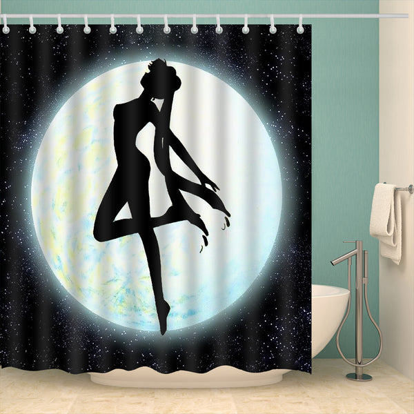 Sailor Moon Shower Curtain White and Black Shower Curtain | GoJeek