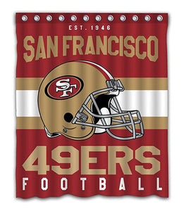 San Francisco 49ers Football Helmet Shower Curtain