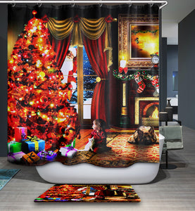 Santa Claus Visit your Home Shower Curtain