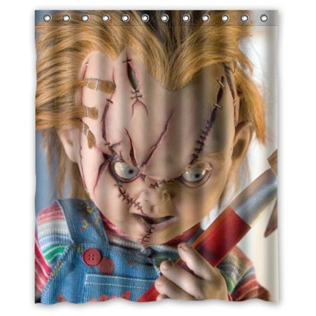 Scary Horror Bride of Chucky Doll Shower Curtain