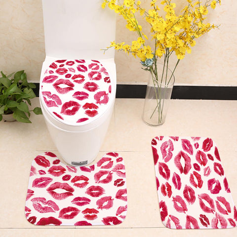 Seamless Red Sexy Lips Toilet Seat Cover