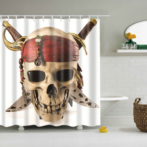 Skull Head Pirate Shower Curtain