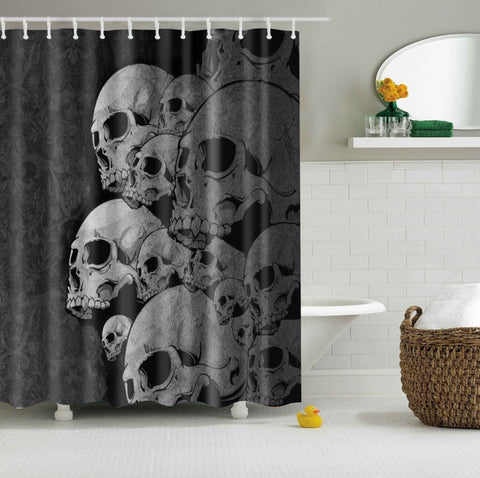 Skull Head Skeleton Shower Curtain | GoJeek