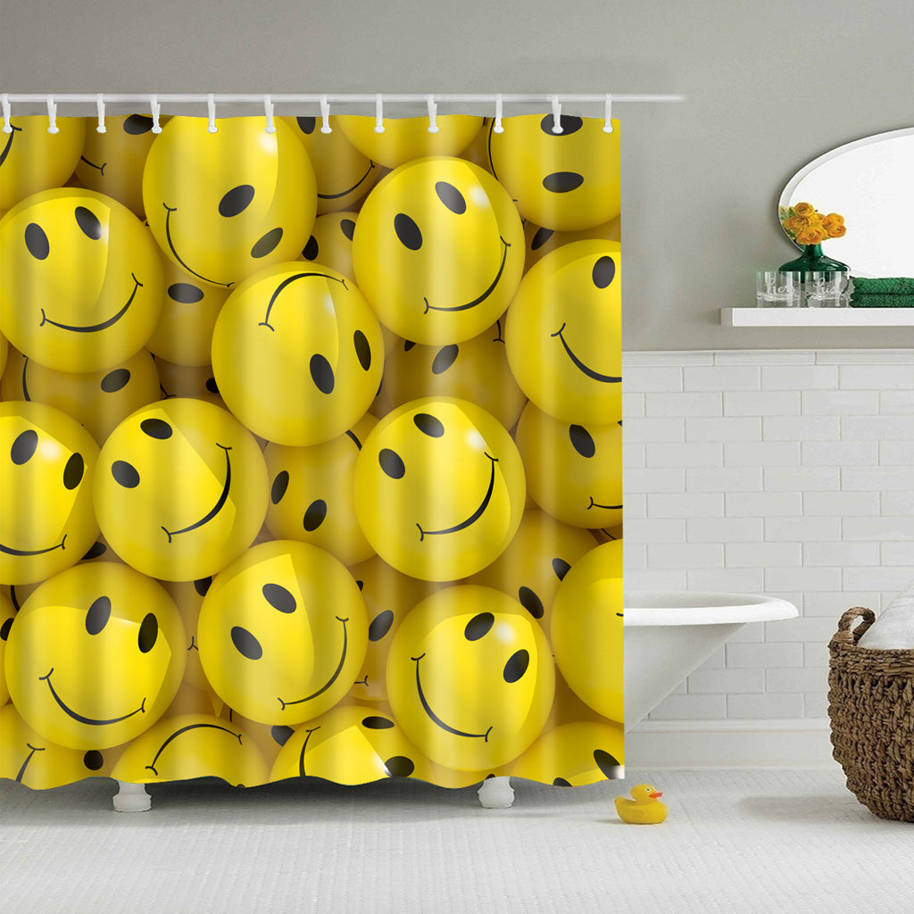 Smile Emoji Shower Curtain | GoJeek