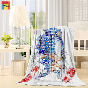 Sonic The Hedgehog Gaming Art Throw Blanket