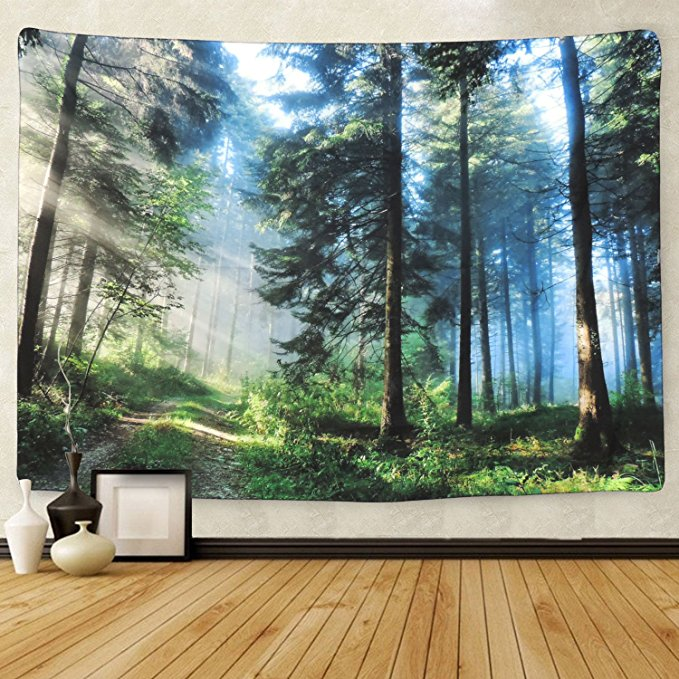 Spring Nature The Thick Forest Tapestry