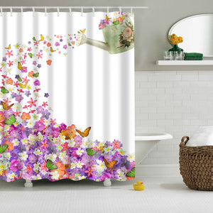 Spring Watering Cans Garden Shower Curtain | GoJeek