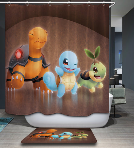 Squirtle Shower Curtain