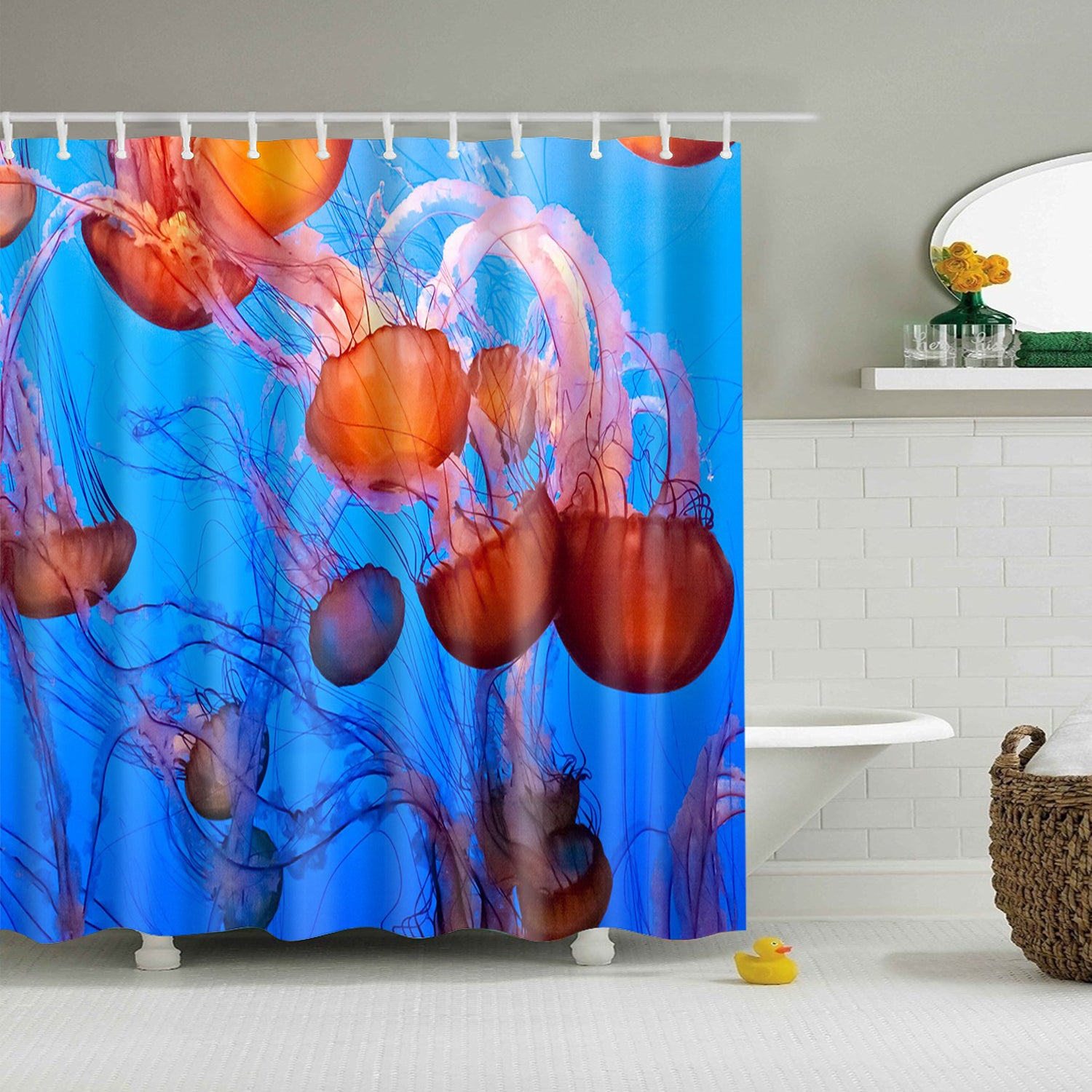 Sting Jellyfish Tentacles Shower Curtain