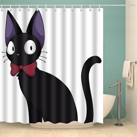 Studio Ghibli Anime Jiji Black Cat Shower Curtain