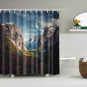 Stunning Mountain with Fall Woodlands Forest Scenic View Shower Curtain