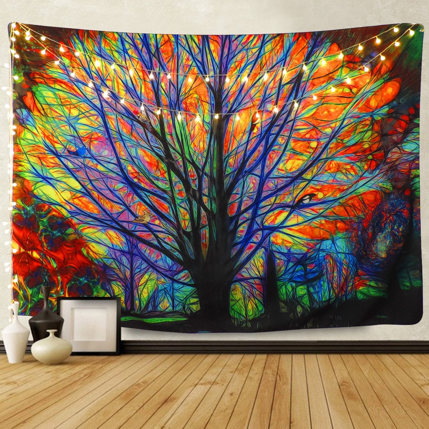 Sublime Colorful Painting Tree Wall Tapestry