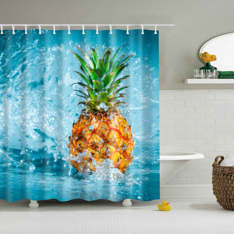 Summer Beach Pineapple Shower Curtain | GoJeek