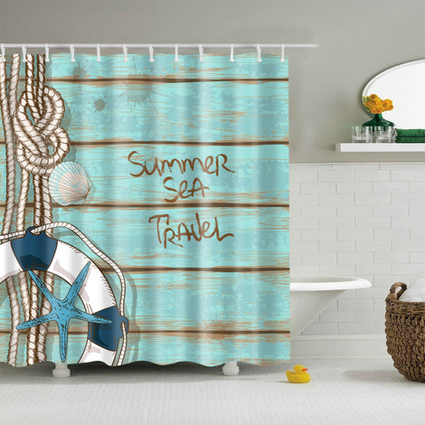 Beach Themed Shower Curtains