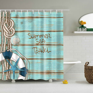 Summer Sea Travel Coastal Deck Shower Curtain | GoJeek