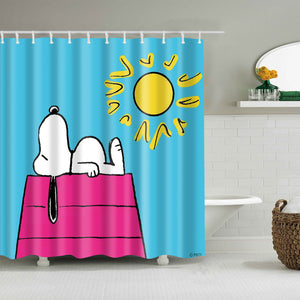 Sunny Day with Sleeping Snoopy Shower Curtain
