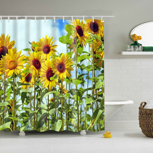Sunny Field Sunflowers Shower Curtain | GoJeek