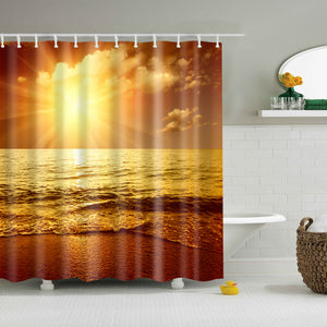 Sunset Breathtaking Beach View Shower Curtain