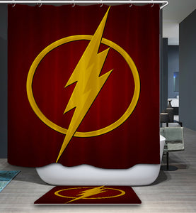 Superhero The Flash Logo Shower Curtain