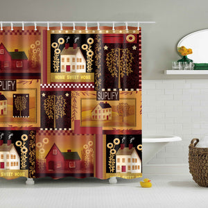 Sweet Home Country Outhouse Shower Curtain | GoJeek
