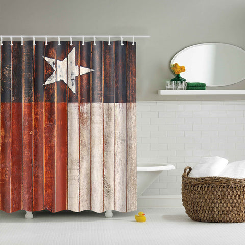 Vintage Style Texas Flag Shower Curtain